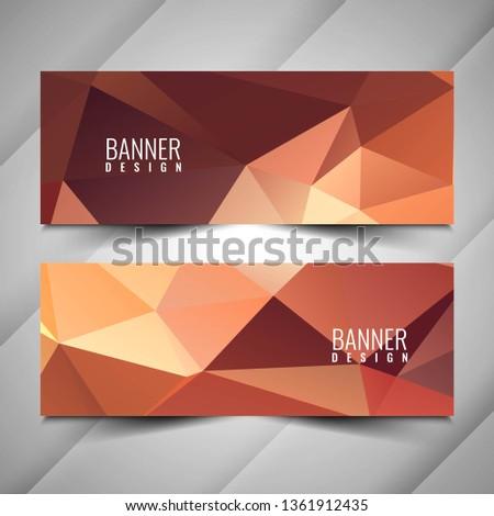 Abstract modern geometric banners set #1361912435