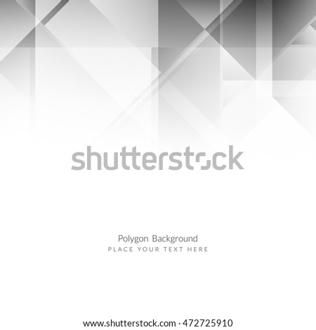 Abstract modern grey color polygon background design