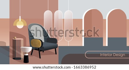 abstract modern interior in