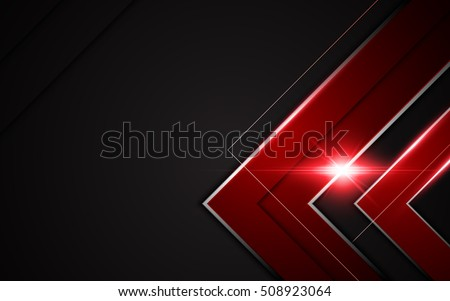 abstract modern metallic red