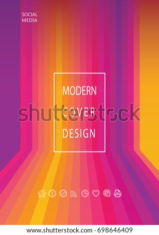 abstract modern multicolored