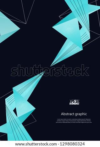 Abstract modern poligonal background. Eps10 Vector illustration #1298080324