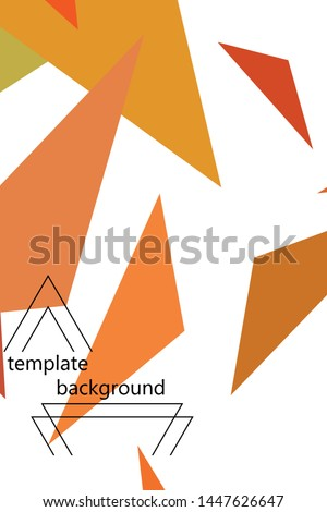 Abstract modern poligonal background for brochure and covers, made with geometrical shapes. #1447626647