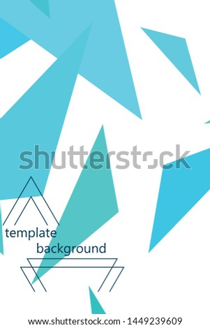 Abstract modern poligonal background for brochure and covers, made with geometrical shapes. #1449239609