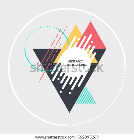 Abstract modern retro background, geometric futuristic shapes vector illustration