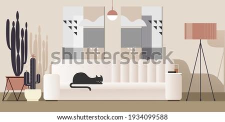 abstract modern studio interior
