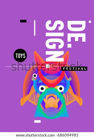abstract modern toys design festival poster publications and