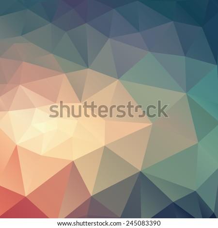 abstract modern triangular