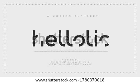 Abstract modern urban alphabet fonts. Typography simple sport, technology or fashion digital futuristic creative logo font. vector illustration