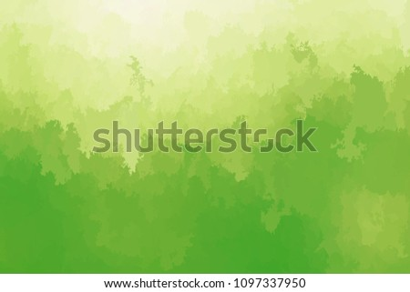 Abstract modern vector background, horizontal format. Digitally generated contemporary wallpaper. Vibrant light green backdrop.