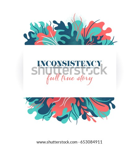 abstract modern vector frame