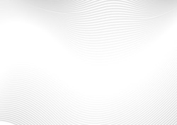 Abstract modern white waves and lines pattern. Vector futuristic template background