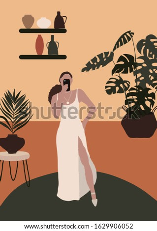 abstract modern woman in