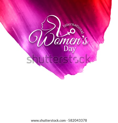 Abstract modern Women's day background