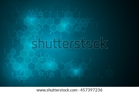 abstract molecular chemistry science technology innovation design concept background