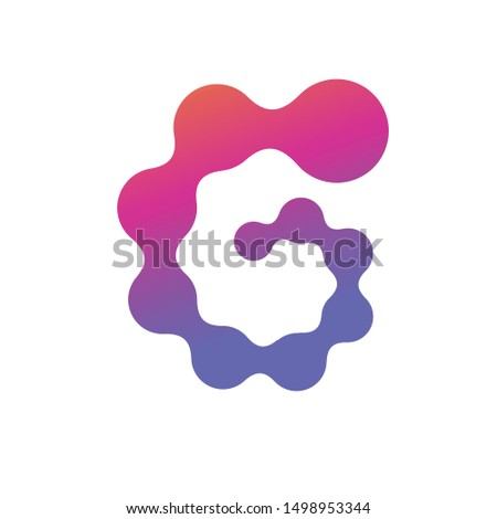 Abstract Molecular nanotechnology Spiral structure Logo. Stock Vector illustration isolated on white background