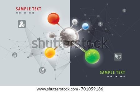 Abstract Molecular Vector medicine, science, technology, chemistry