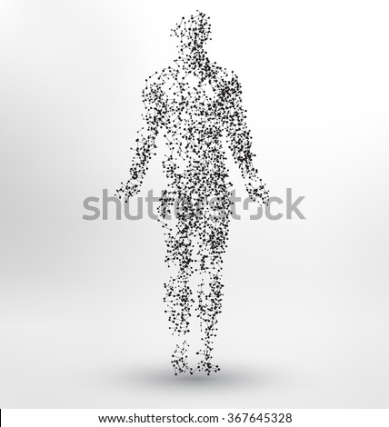 abstract molecule based human
