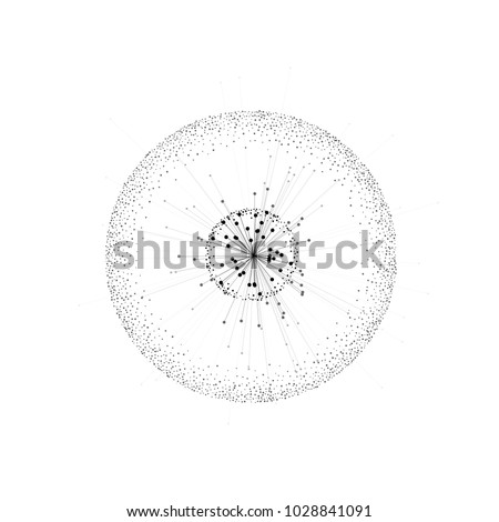Abstract molecule. Molecular structure. Science or medical background with molecule or atom for banner, brochure, flyer etc. Atom with elementary particles. Vector graphic design