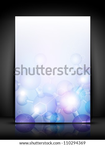 Abstract molecules medical background. EPS 10.