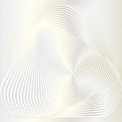Abstract monochromatic illustration formed by swirling lines