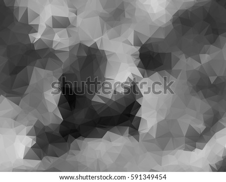 Abstract monochrome background consisting of triangles. Vector art. #591349454