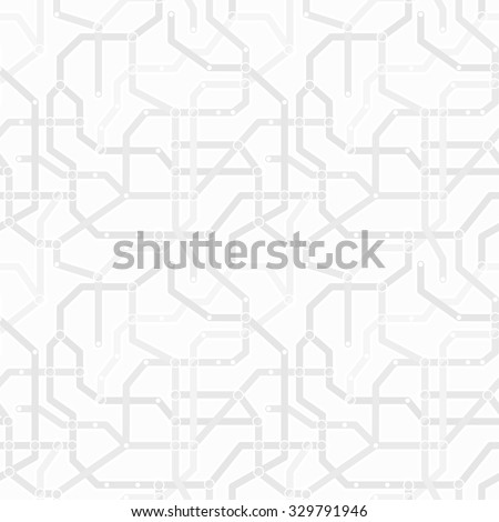 Abstract monochrome gray and white metro scheme seamless pattern. Transport concept wallpaper vector eps8 simple texture. Subway map background. Network tile art.