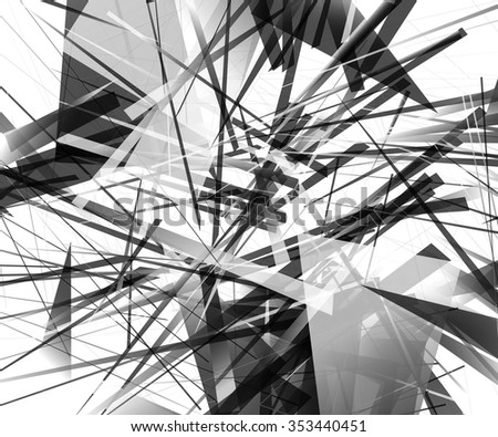 Abstract monochrome pattern / texture with edgy, overlapping rectangular shapes. - Shutterstock ID 353440451
