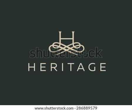 abstract monogram elegant