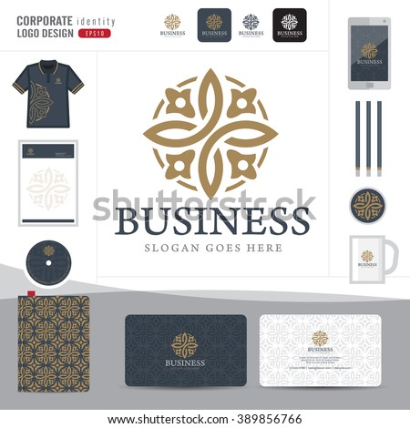 Abstract monogram elegant logo design,Abstract Logotype corporate identity template,Corporate identity,Abstract emblem,hotel,restaurant,vector illustrator