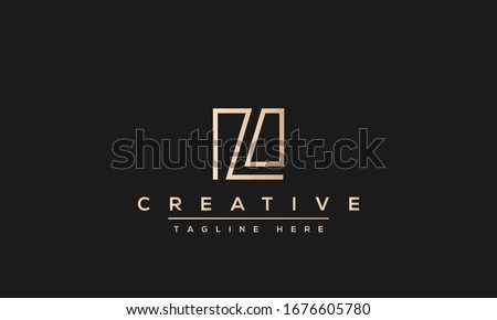 Abstract monogram letter L logo icon design. Minimalist L LL creative initial based vector template. Stock fotó ©