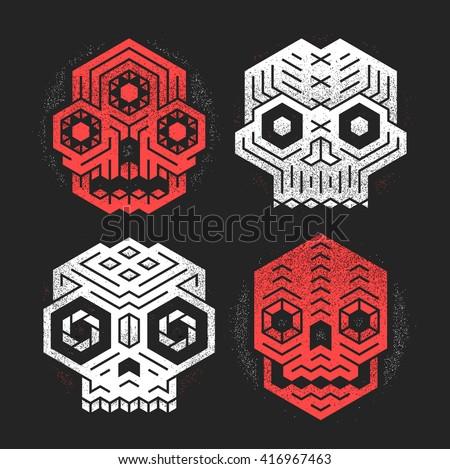 abstract monster skulls sign