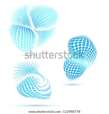 Stock Photo abstract morphing elements
