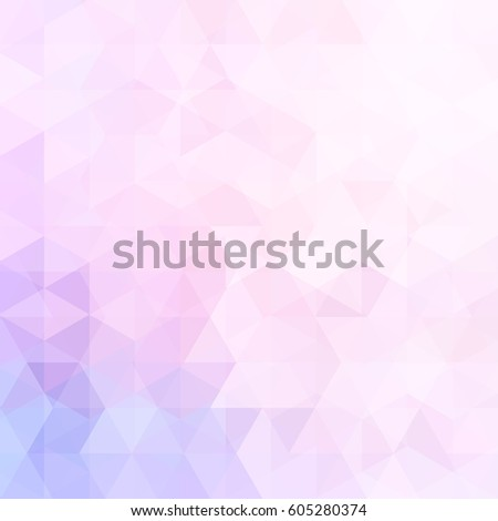 Abstract mosaic background.  Triangle geometric background. Design elements. Vector illustration. Pink, violet colors.