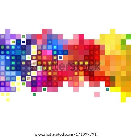 abstract mosaic banner