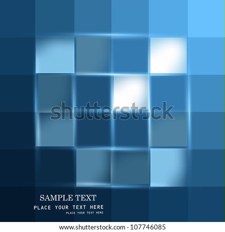 abstract mosaic bright colorfull blue vector design