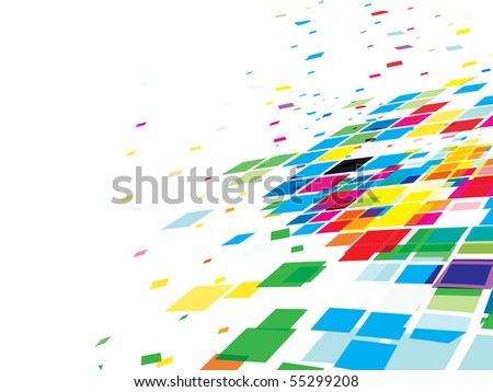 Abstract mosaic colorful background. Vector illustration.