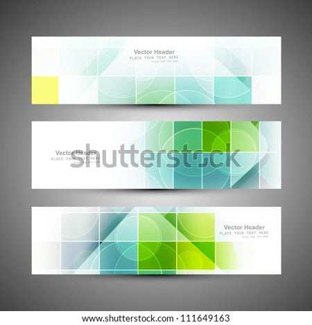Abstract mosaic header colorful vector design