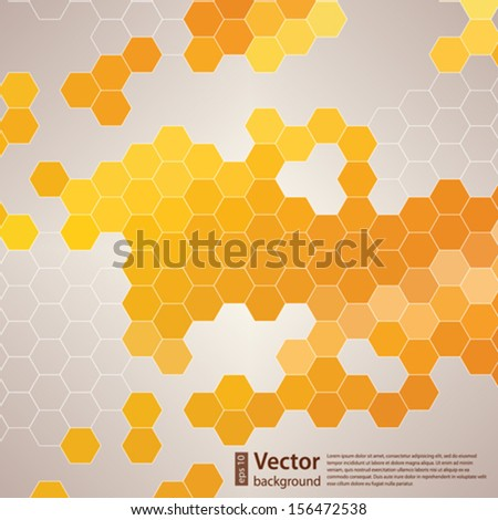 abstract mosaic in the form of a honeycomb for your design