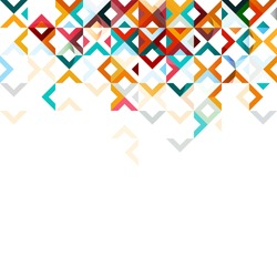 Abstract mosaic mix geometric pattern design, colorful tone on top part, vector illustration