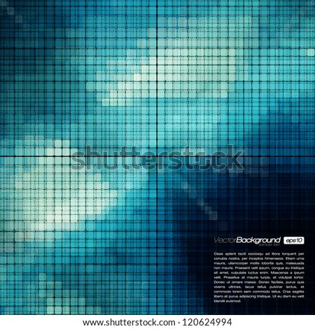 Abstract Mosaic Vector Background for Your Text