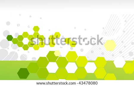 abstract mosaic vector composition with space of your text, vector illustration