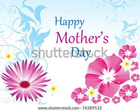 abstract mother's day background vector illustration #76389532
