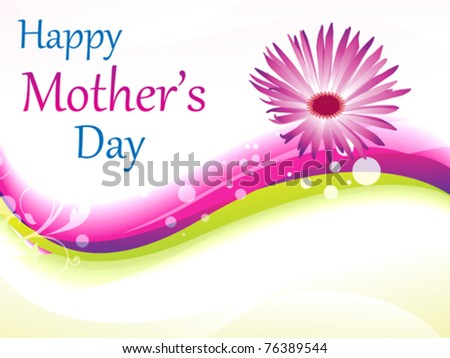 abstract mother's day background vector illustration