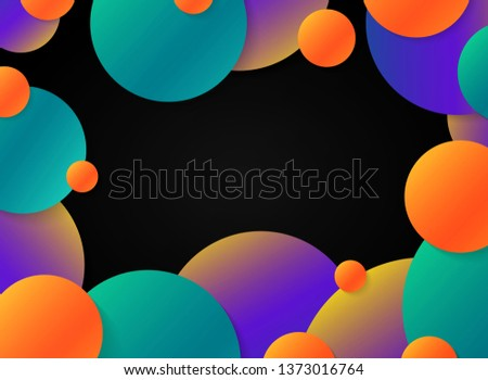 abstract motion colorful orbs
