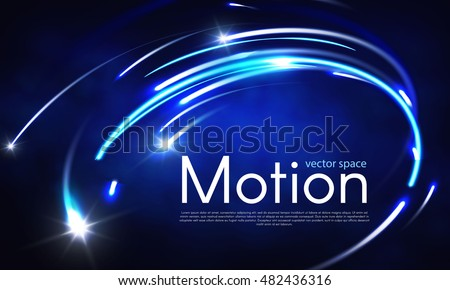 abstract motion light