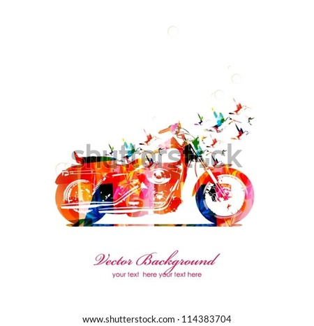 abstract motorbike with