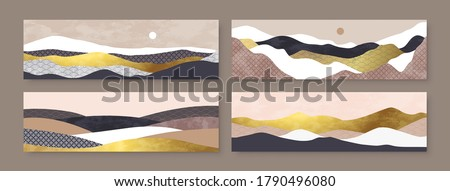 abstract mountain landscape