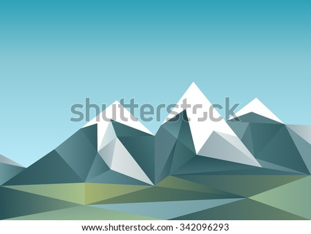 abstract mountain landscape in