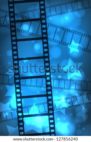 Abstract movie film background. EPS10 vector.